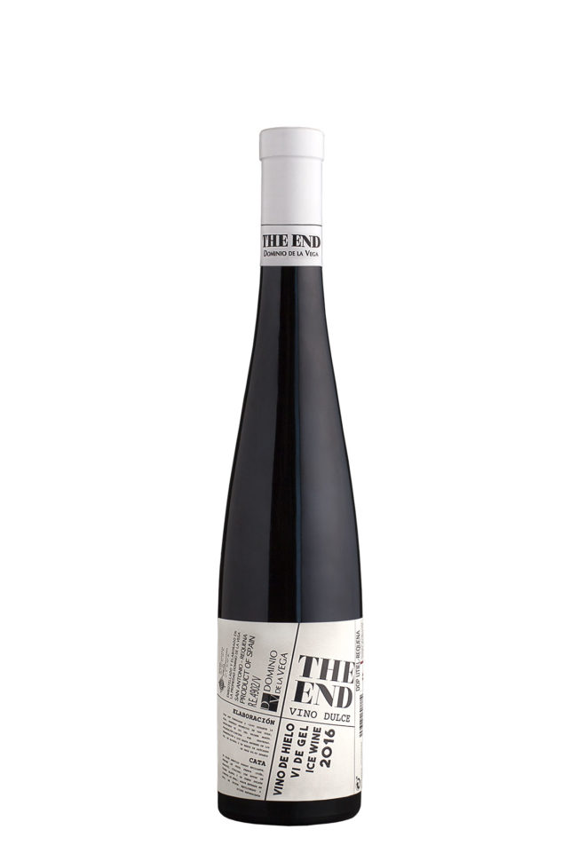 Botella 0,5cl de Vino blanco dulce de hielo The End 2016