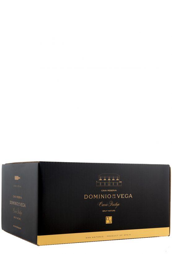 Etiqueta Caja 6 botellas 75cl. Cava brut reserva Cuvée Prestige 2013