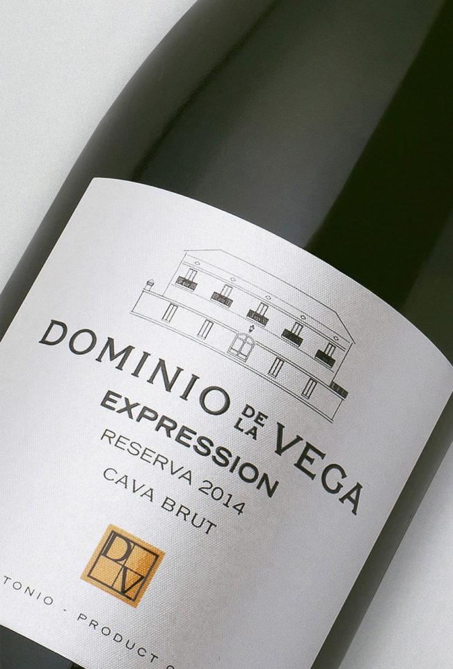 Etiqueta botella 75cl. Cava brut reserva Expression 2014