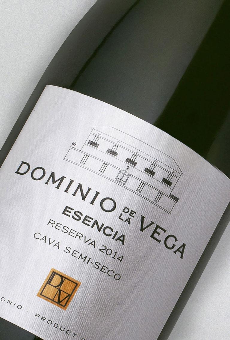 Etiqueta Botella 75cl. Cava semi-seco reserva Esencia 2014
