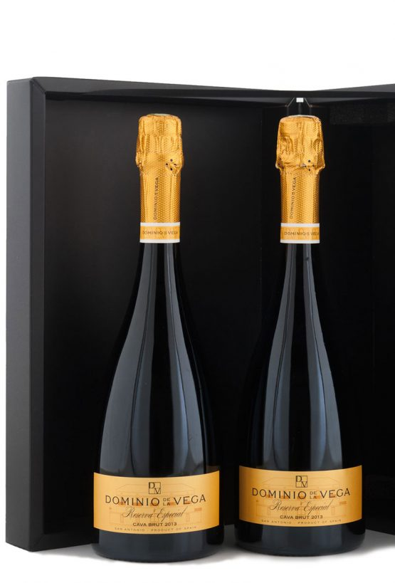 Detalle Estuche 2 botellas de 75cl. de 75cl. de Cava brut reserva Especial
