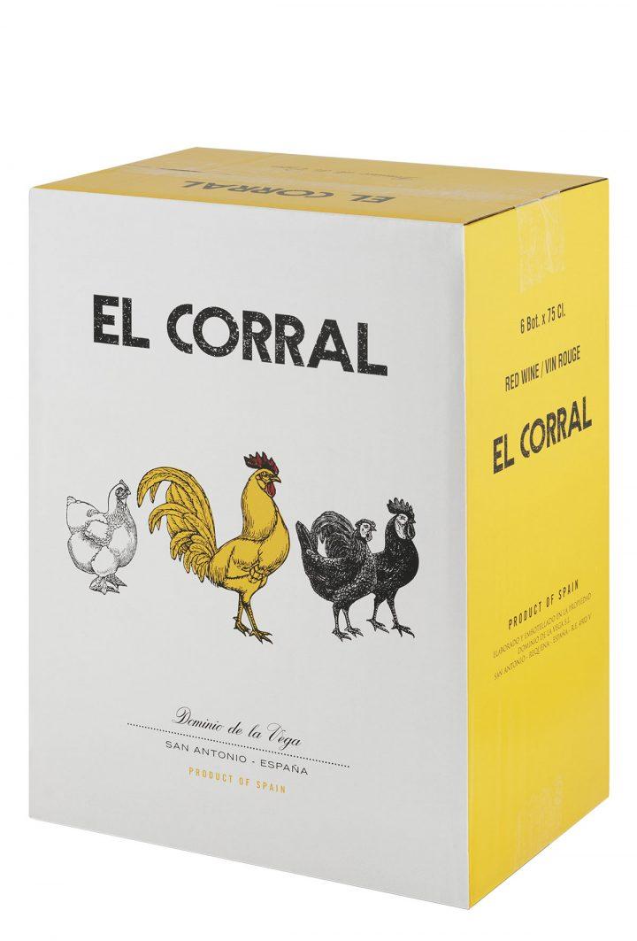 Caja 6 botellas 75cl. Vino tinto El Corral