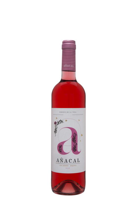 Botella 75cl. Vino rosado jóven Añacal 2017