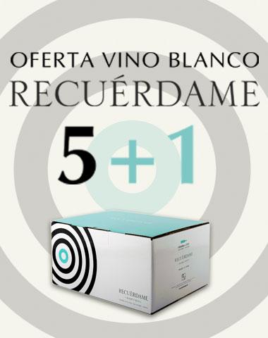 Oferta 5+1 vino blanco Recuérdame 2016