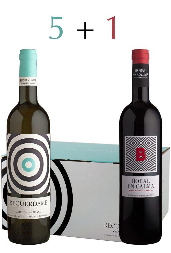Promocion vino blanco recuerdame y regalo bobal en calma