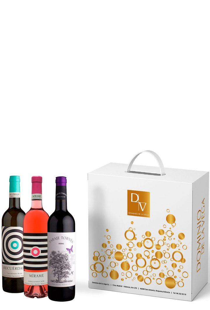 Escuche con pack de vinos D.O. Utiel-Requena: Blanco, rosado y tinto