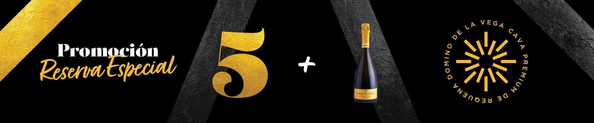 Promoción 5+1 en Cava Reserva Especial