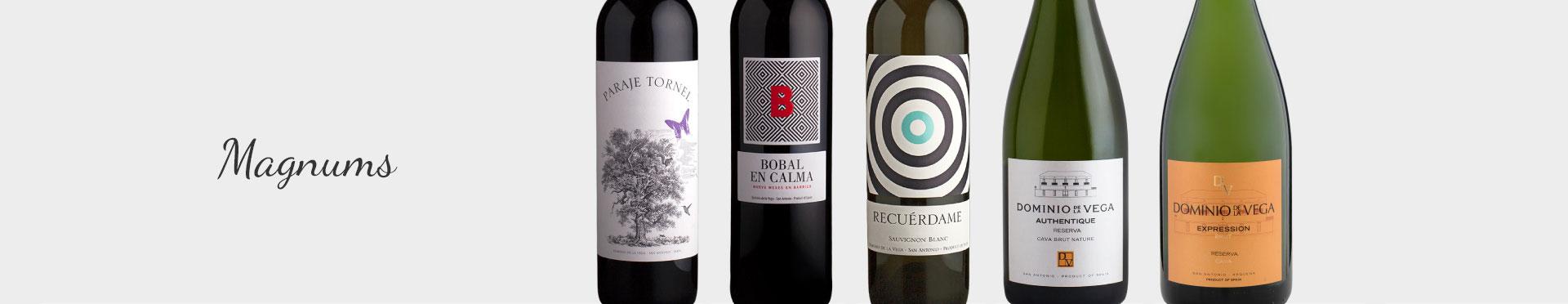 Botellas Magnum de vino y Cava para regalar