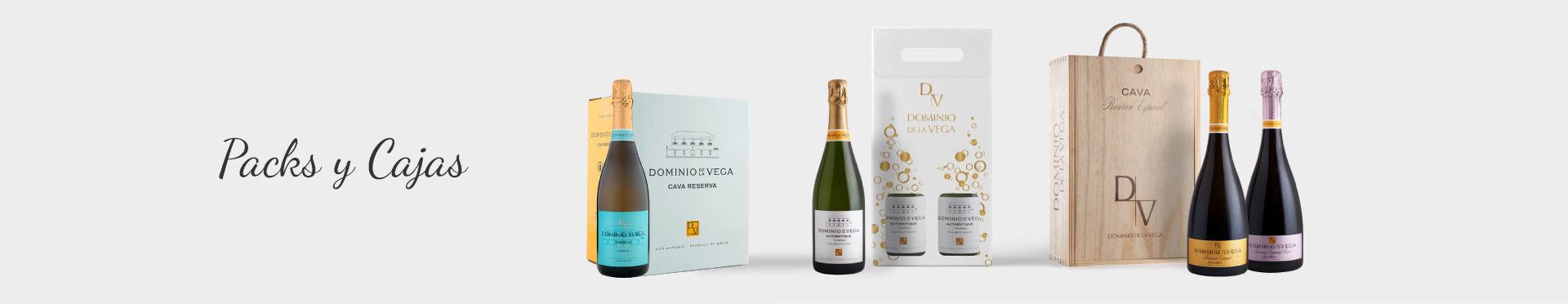 Packs y cajas de vino o Cava para regalar